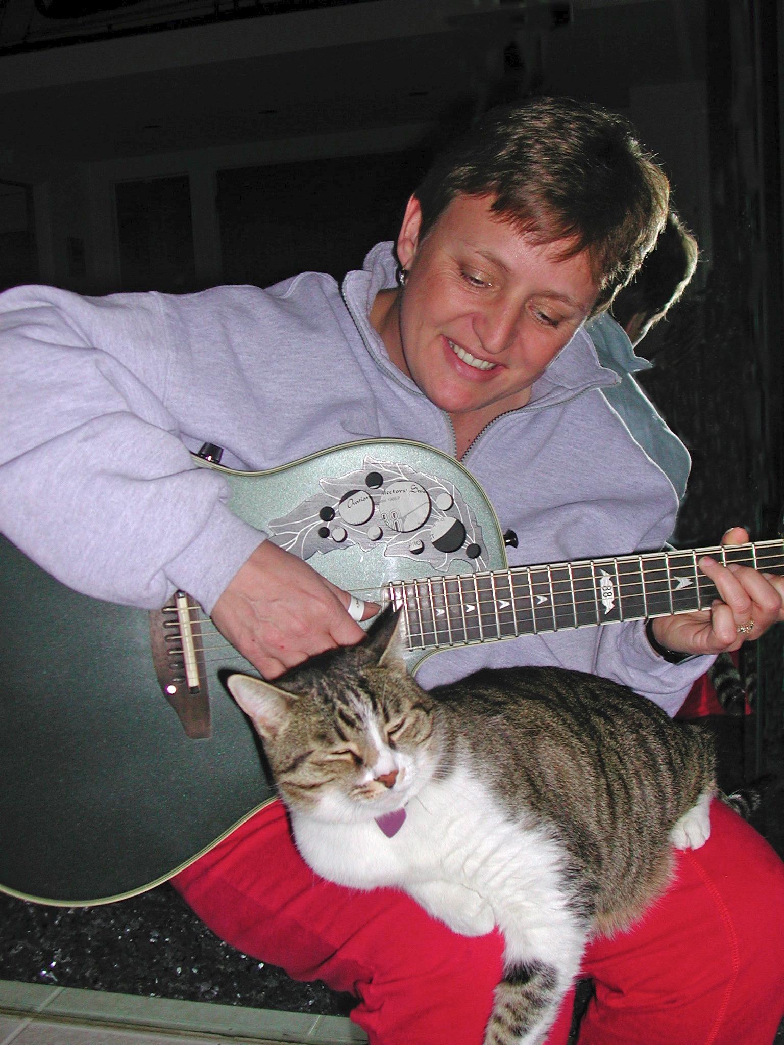 Judy with Aspen & Guitar 2